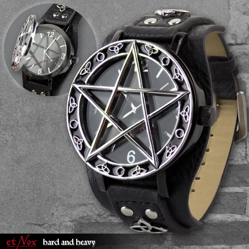 uhr 39 39 pentacle time 39 39 kunstlederarmband mit deckel und metallbox. Black Bedroom Furniture Sets. Home Design Ideas