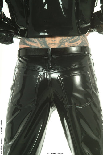 Latex Herrenjeans genäht
