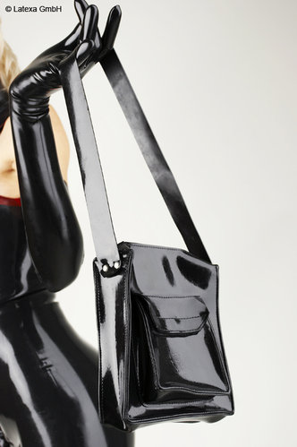 Latex Handtasche Latexa genäht