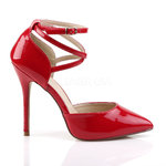 PleaserUSA High Heels Pumps Amuse-25 rot D´Orsay