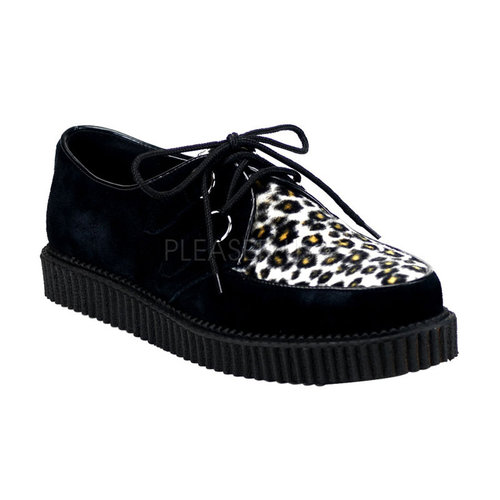 Demonia Rockabilly-Halbschuhe Creeper-600 Tiger