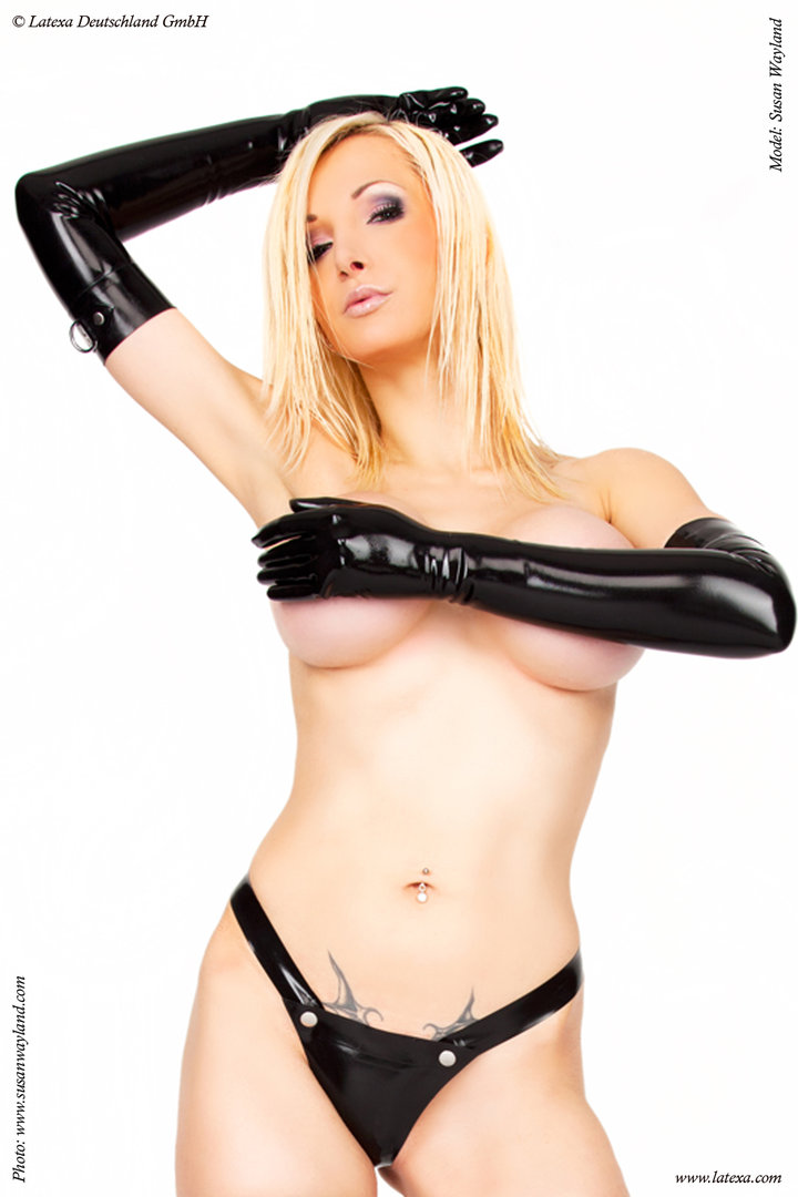 Latex Handschuhe mit D-Ring