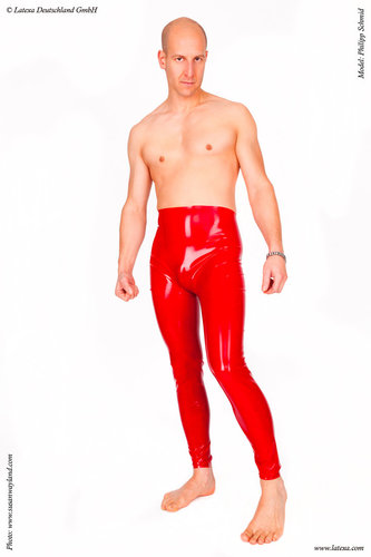 Latex Leggings, unisex, hoch geschnitten