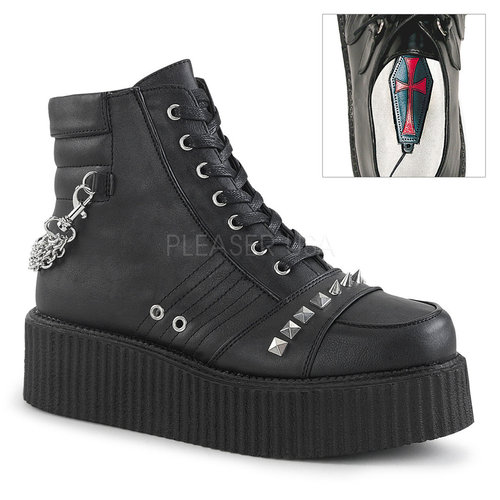 Demonia Herren Low Top Boots V-Creeper-565 vegan schwarz
