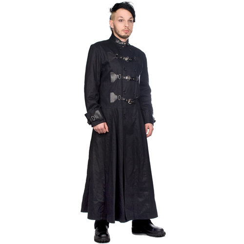 Black Pistol Closure Coat Denim