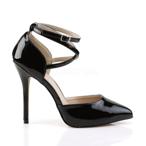 PleaserUSA High Heels Pumps Amuse-25 schwarz D´Orsay
