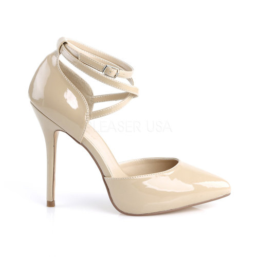 PleaserUSA High Heels Pumps Amuse-25 Lack creme