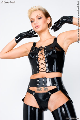 Latex Korsett Top mit Schnürung