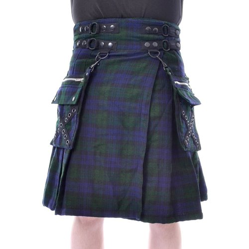 CATO KILT - BLUE/GREEN TARTAN Poizen Induatries